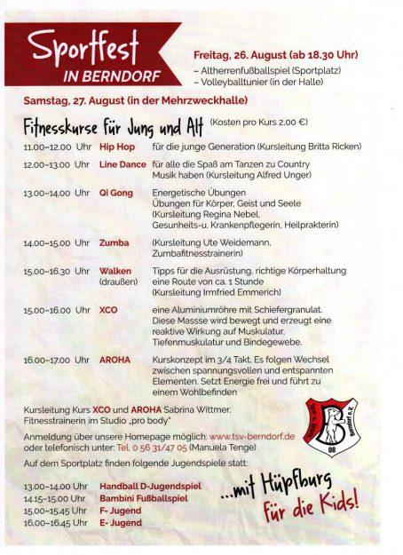 Sportfest in Berndorf